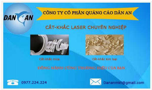 Cắt khắc Laser chuyên nghiệp tại Thanh Hóa